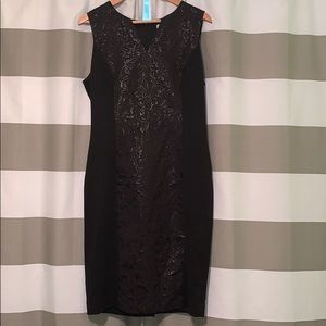 Black dress with detail down the front